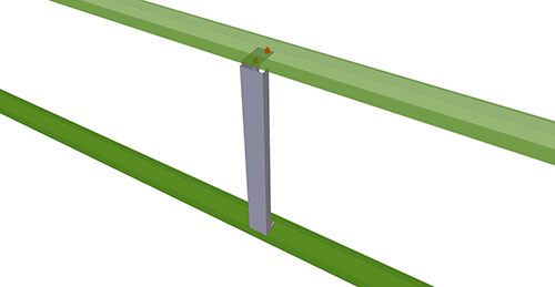 Tekla Structures model after adding Metsec Non-Standard Horizontal Cladding Support (34)