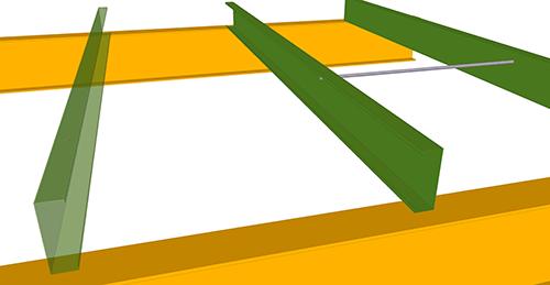 Tekla Structures model before adding Metsec Mezzanine Floor Tie Bar (38)