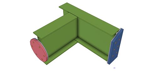 Tekla Structures model after adding Thermal Break Ltd (TekTherm™)