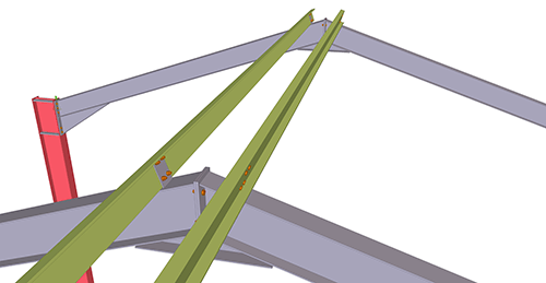 Tekla Structures model before adding Thomas Panels Apex Tie Bay (12)