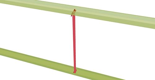 Tekla Structures model after adding Thomas Panels Non-Standard Side Rail (52)