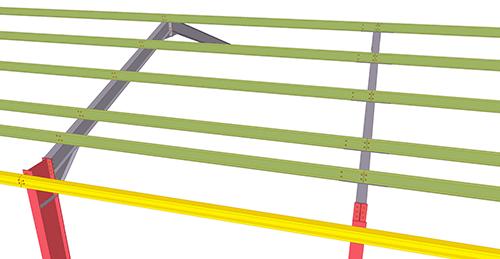 Tekla Structures model before adding Thomas Panels Anti-Sag System (53)