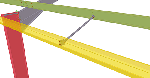 Tekla Structures model after adding Thomas Panels Eaves Brace (54)