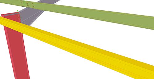 Tekla Structures model before adding Thomas Panels Eaves Brace (54)