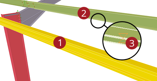 The order to select Tekla Structures model when adding Thomas Panels Eaves Brace (54)