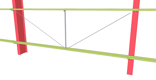 Tekla Structures model after adding Thomas Panels Diagonal Ties (55)