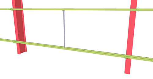 Tekla Structures model before adding Thomas Panels Diagonal Ties (55)