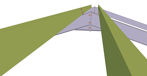 Tekla Structures model before adding Thomas Panels Apex Ties (9)