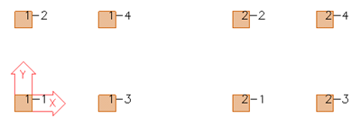 Picture: group numbering has been used, group 1 on the left and group 2 on the right