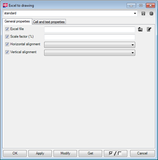 Excel to drawing | Tekla User Assistance